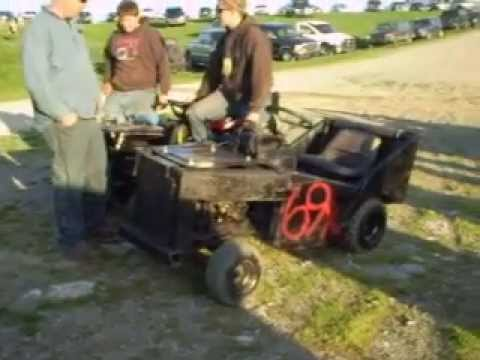 Modified Demolition Derby Lawn Mowers Youtube