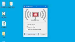 İnterneti kolayca engelleyin - NetDisabler