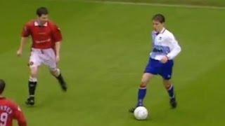 Manchester Utd v Middlesbrough 1996-97 JUNINHO EMERSON KEANE NEVILLE GOAL