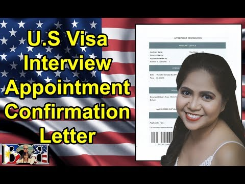 VISA INTERVIEW APPOINTMENT CONFIRMATION LETTER | US EMBASSY | K1 VISA