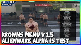 GTA 5 PC - KR0WNS MENU V1.5 SHOWCASE - ALIENWARE ALPHA I5 GAMEPLAY (GTA 5 MODS)