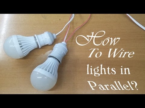 how to wire lights in parallel youtube rh youtube com wiring lights in parallel or series wiring lights in parallel diagram