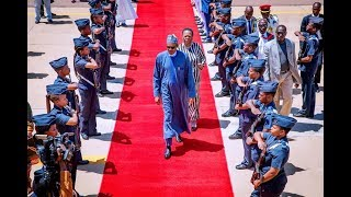 The Eagle Is Back : Buhari Departs South Africa, Arrives Abuja