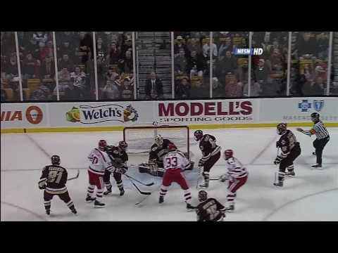 BU Hockey - 2009 Hockey East semifinal 3 goal outburst