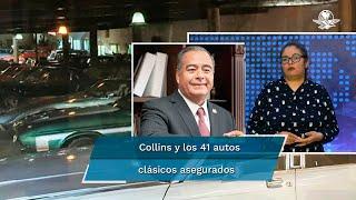 Johana Robles, coeditora de la sección Metrópoli de El Gran Diario de México, explica lo que sucede con el exsecretario de Seguridad Pública durante la administración de Miguel Ángel Mancera, luego que en un cateo aseguran 41 autos clásicos en el domicilio de Raymundo Collins