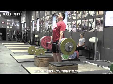 Block Clean Pull - Olympic Weightlifting Exercise Library - Catalyst Athletics