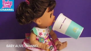 BABY ALIVE DIY Compilation: Real Surprises Doll + My Baby Magnetic Pacifier+Bottle+Straw+Doll Juice