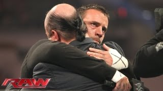 CM Punk and Paul Heyman embrace: Raw, June 24, 2013