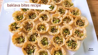 BAKLAVA RECIPE, BAKLAVA BITES, VERY EASY TO MAKE , EID SPECIAL MINI BAKLAVA