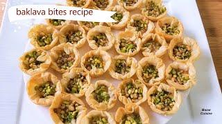 Baklava Recipe Mini Turkish Baklava بغلاوه Eid Recipes By Mazar Cuisine Baglawa