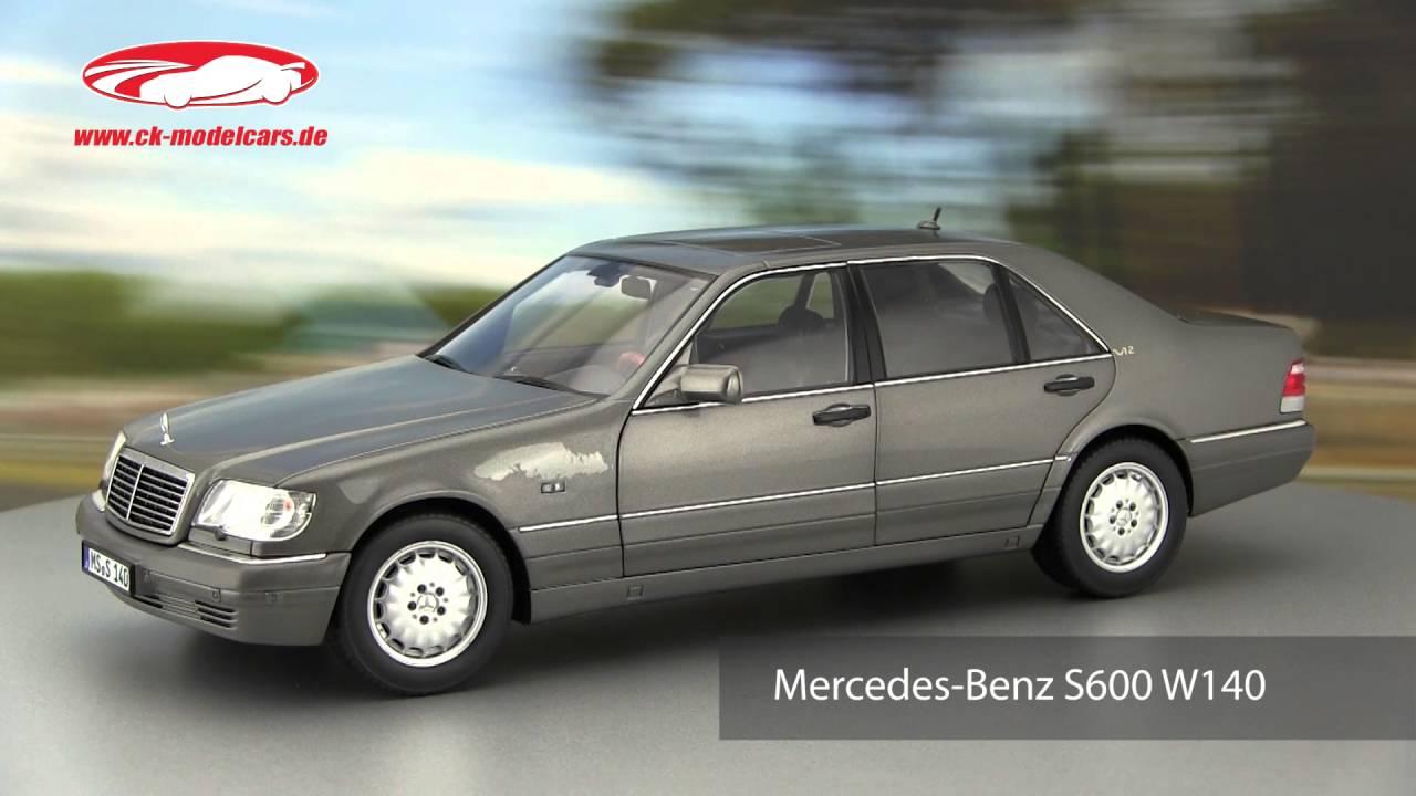 Ck modelcars video mercedes benz s600 w140 baujahr 1997 norev