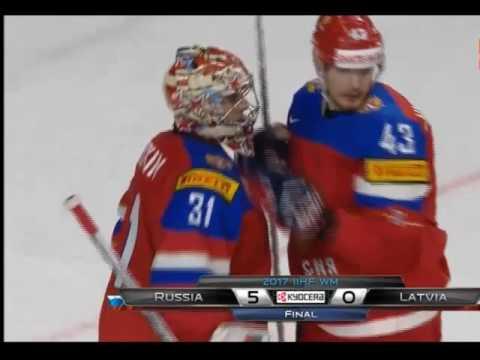 Чемпионат мира по хоккею 2017. Россия-Латвия счет 5:0 Конец игры
