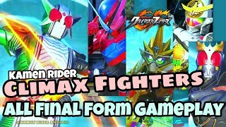 All Final Form Gameplay Kamen Rider Climax Fighters PS4. All Evolution Burst & Super Rider Arts