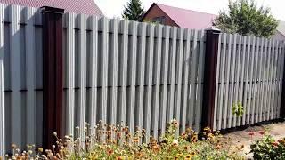 Забор из  евро штакетника.