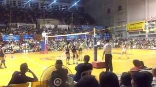 141028 unigames volleyball finals w dlsu nu set 1 3