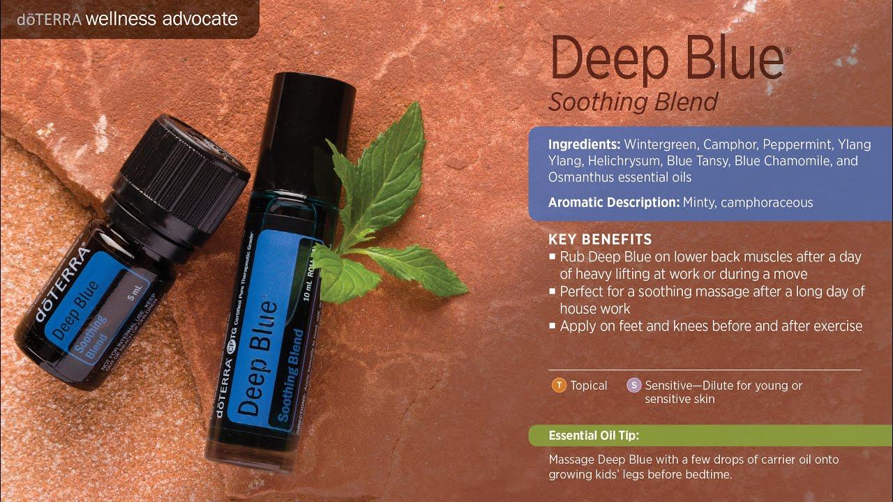 Aceite Esencial Deep Blue Doterra Passion Pe Youtube
