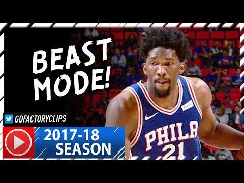 Joel Embiid Full Highlights vs Pistons (2017.10.23) - 30 Pts, 9 Reb, BEAST!