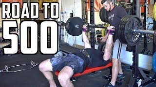 40lb Bench INCREASE In One Month! | Road to 500 Ep. 4 (ft. Demolition Ranch)