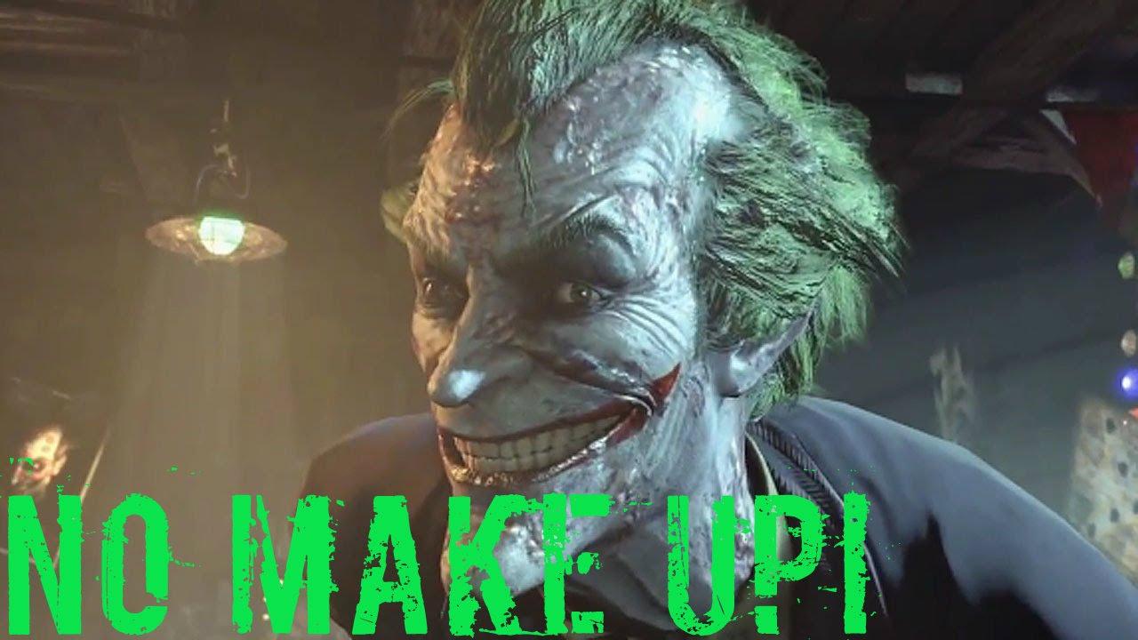 Batman Arkham Knight See The Joker With No Make Up Ps4 Spoilers - Joker-no-makeup-ics