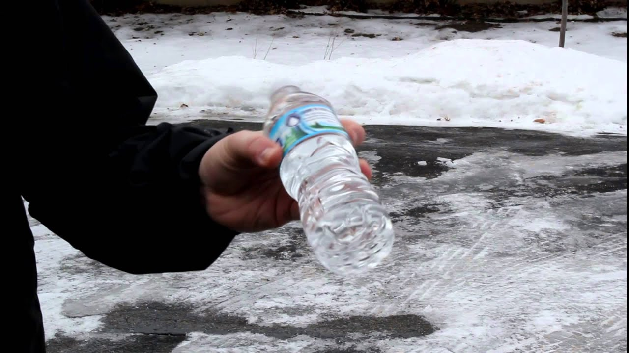 why do these water bottles instantly freeze when shaken it s called