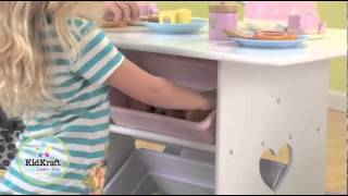 Kidkraft Heart Table & Chair Set With Pastel Bins 26913