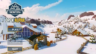 Snowtopia - Gameplay / Ski Resort Management Game (Free Open Alpha)