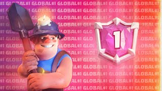 #1 IN THE WORLD! 7100+ TROPHIES GAMEPLAY WITH BEST MINER DECK - Clash Royale