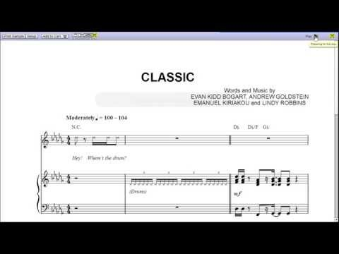 Classic by MKTO - Piano Sheet Music :Teaser