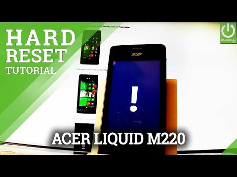 ACER Liquid M220 Hard Reset / Remove Password / Windows Format
