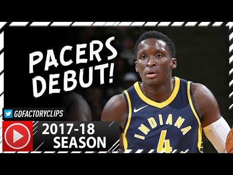 Victor Oladipo Full Highlights vs Bucks (2017.10.04) - 15 Pts, Pacers Debut!