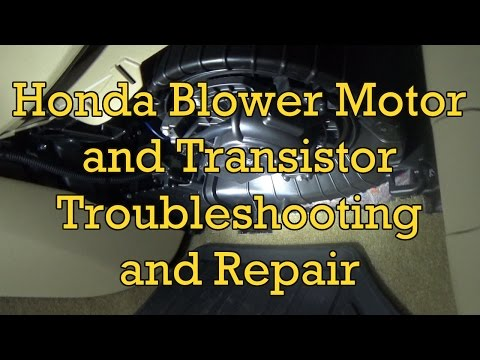 Honda Accord Blower Motor Troubleshooting and Replacement 2012 (2008-2012 Similar)