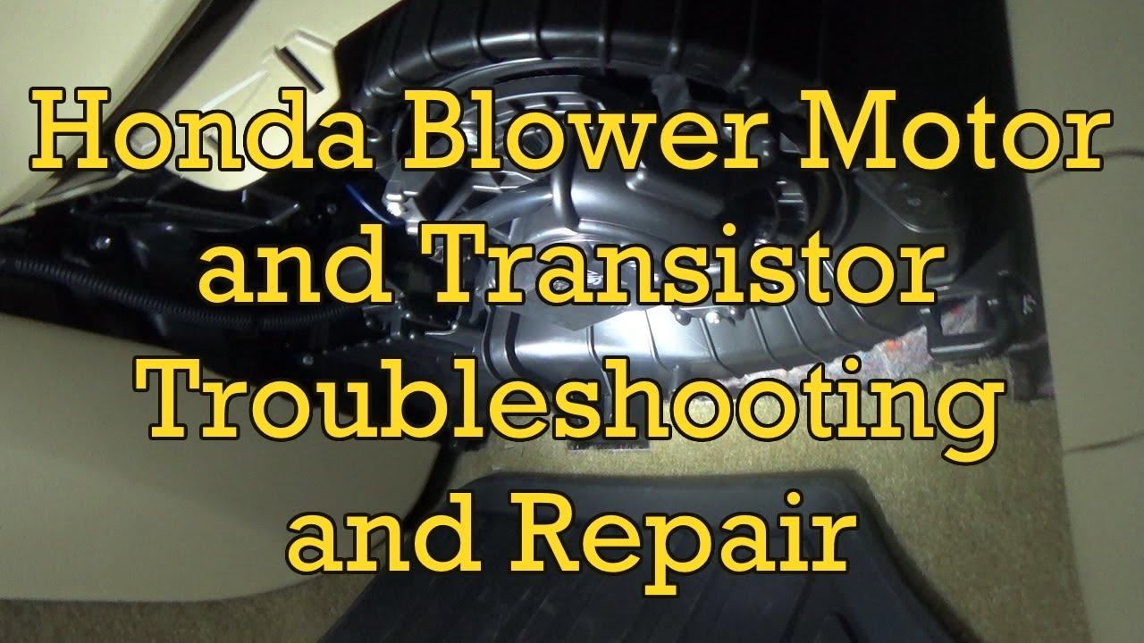 wiring diagram honda civic rheem diagrams heat pumps accord blower motor troubleshooting and replacement 2012 (2008-2012 similar) - youtube