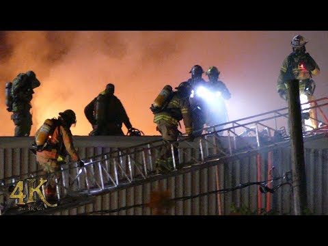 Montreal: Industrial 3 alarm fire at Garport building in Lachine 8-4-2017
