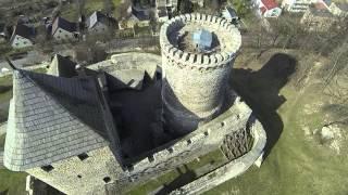 Zamek Będzin z lotu ptaka
