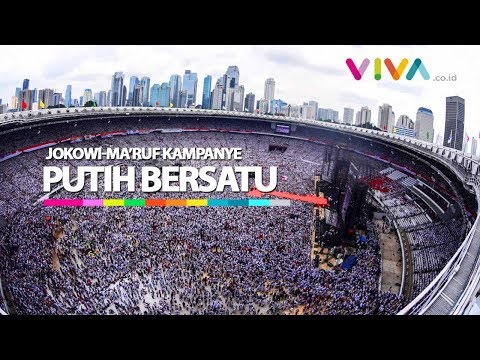 Dari Udara, Kampanye Jokowi Putih Bersatu di Jakarta