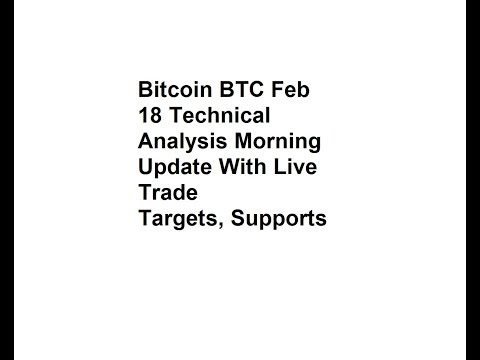 Bitcoin BTC Feb 18 Technical Analysis Morning Update With Live Trade