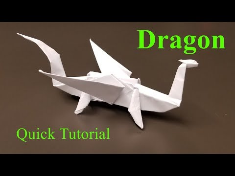 Easy Origami Dragon - How to Make an Origami Dragon, Quick Tutorial