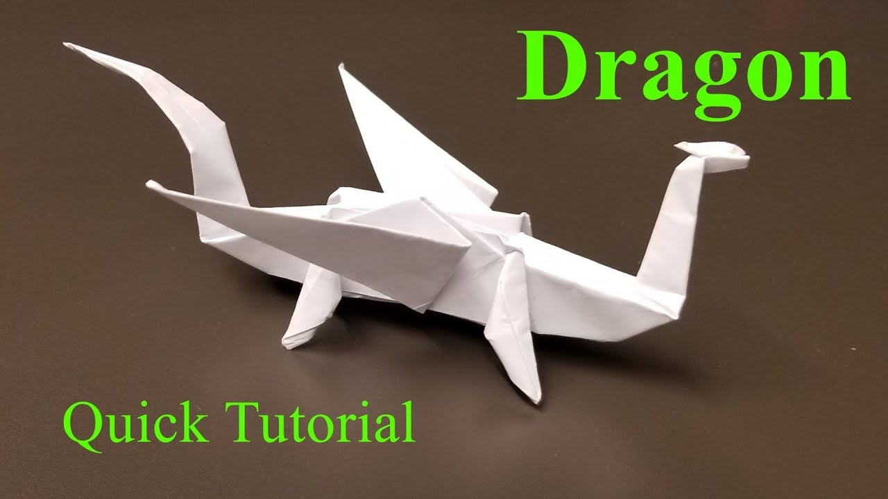How to make a simple origami dragon: page 1 | 720x1280