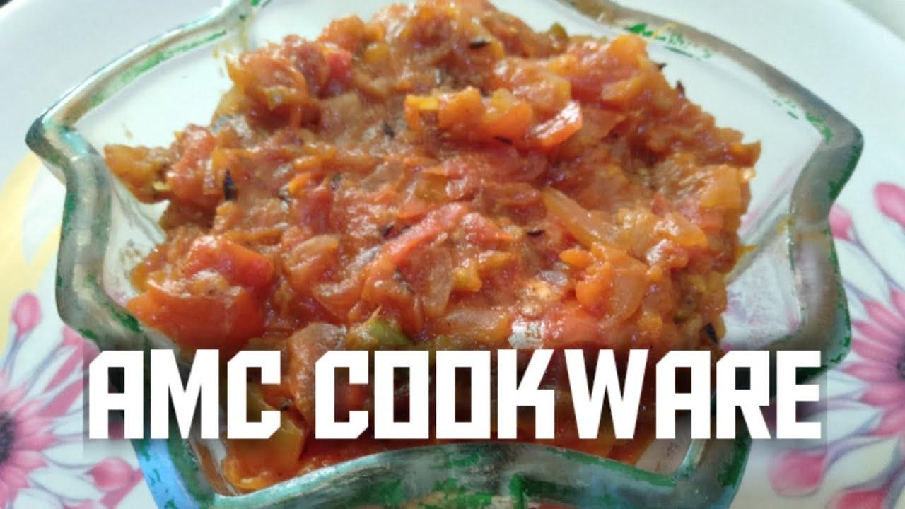 Hari mirch and tamatar 🍅 ki chatni | AMC cookware