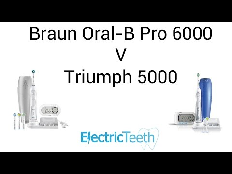 Braun Oral-B Pro 6000 V Triumph 5000 Electric Toothbrush