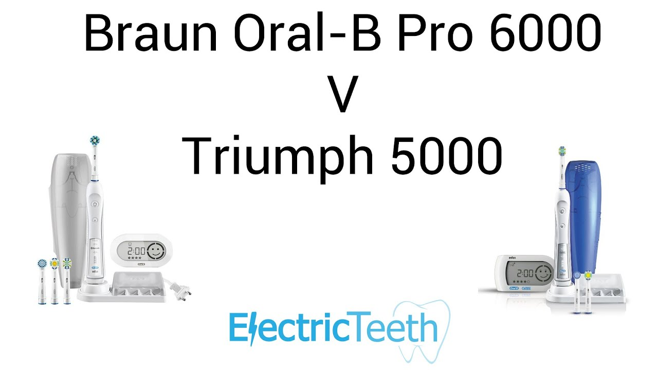 Braun Oral-B Pro 6000 V Triumph 5000 Electric Toothbrush