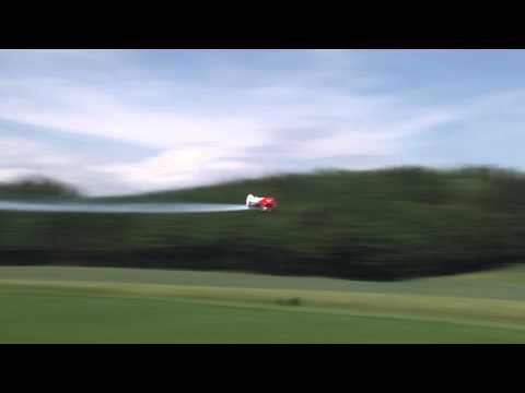 Maiden flight of a CARF GeeBee R2 powered by a Moki 250