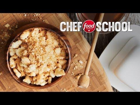 Crispy Honey Streusel Topping | Chef School