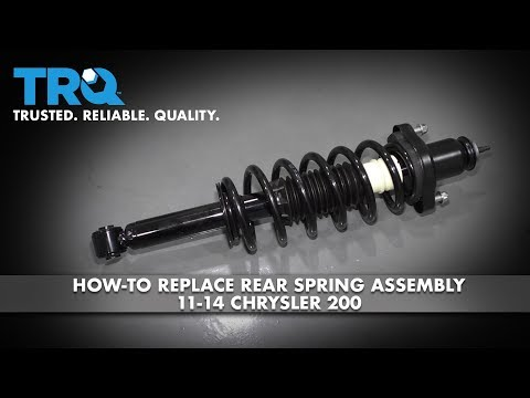 How to Replace Rear Spring Assembly 11-14 Chrysler 200