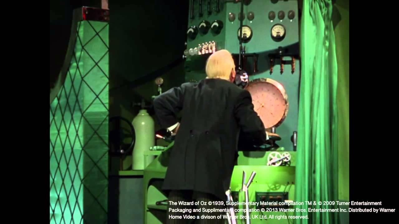 Green Curtain Oz -  behind the curtain