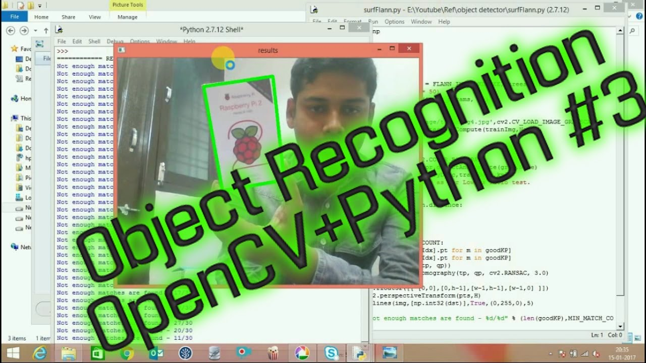 OpenCV Real Time Object Recognition In Any Background | How to write a  object recognition Part-3