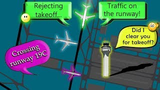 PILOTS AVOID A DISASTER | Planes crossing in front of a departure!