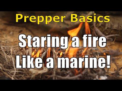 Preppers Basics: Start A Fire Like A Marine!