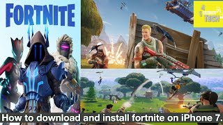 How to download and install Fortnite on iPhone 7.