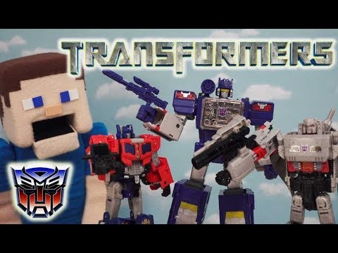 Transformers Titans Return Toys Soundwave Optimus Prime Megatron Hot Rod TOILET ATTACK! G1 Unboxing